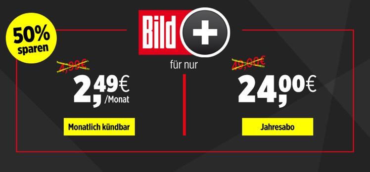 BILDplus Digital Jahresabo nur 24€