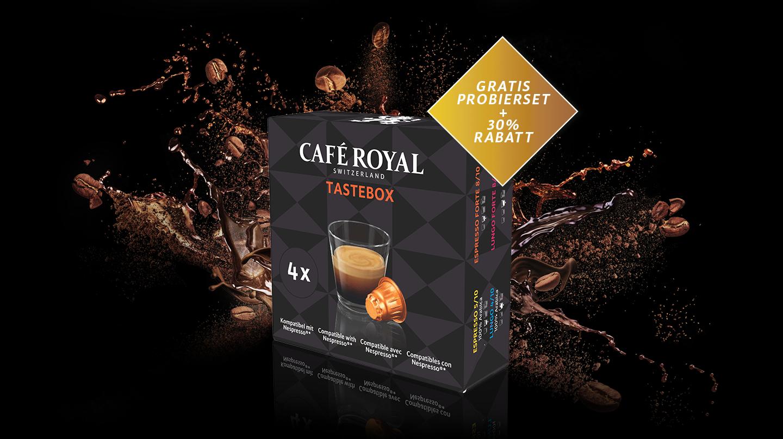 Gratis Cafe Royal Probierbox - Nespresso Kapseln