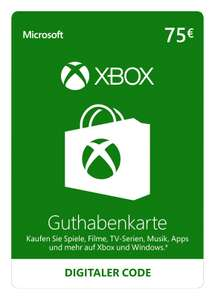 Xbox Live 75€ Guthaben Giftcards