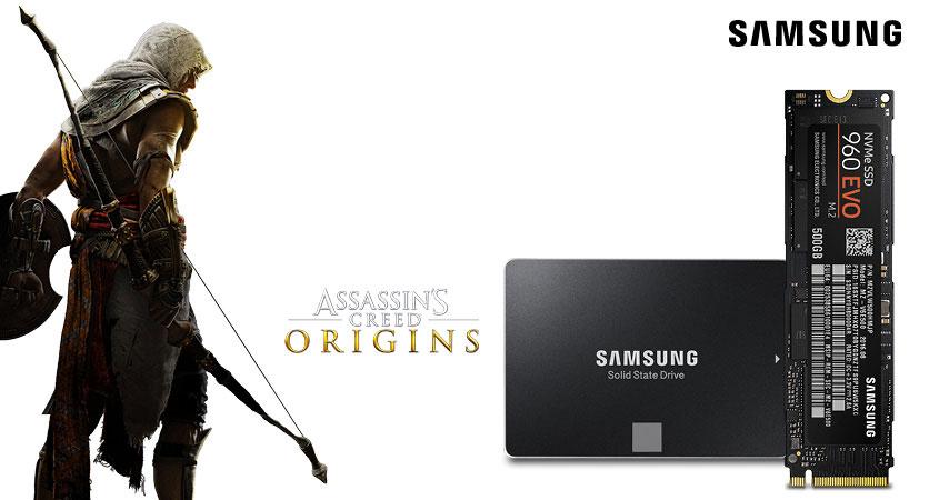 Samsung SSD (500GB/1TB) kaufen + AssassinsCreed Origins gratis