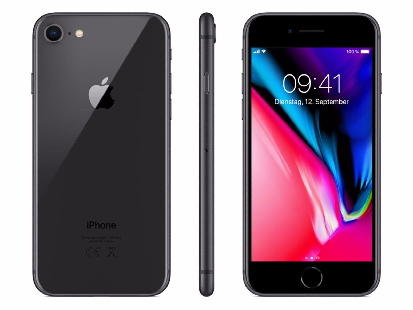 Apple iPhone 8 - 64GB - Spacegrau / Schwarz - (Ohne SIM-Lock) - NEU - Händler