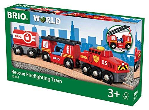 [Dodax oder Amazon] BRIO World 33844 - Feuerwehr Löschzug, bunt