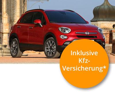 Fiat 500X City Look Lounge 1.4 Multiair, 103 kW (140 PS) Komplett-Leasing ( inkl. Kfz.-Versicherung, Kfz.-Steuer, Wartung, Ganzjahresreifen ) für nur 299,00€