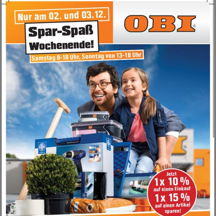 OBI Borken Sparwochende 02.12.17 und 03.12.17