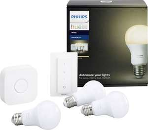 Philips Lighting Hue Starterkit 9 W Warm-Weiß 3*Warm White E27 Bridge Dimmer