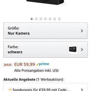 Xiaomi 2k Action Cam für 39,99€ Amazon