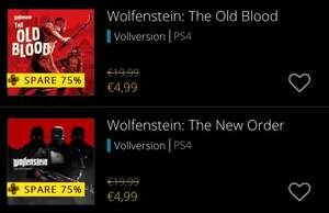 PS4 - PSN Plus: Wolfenstein: The New Order und Wolfenstein: The Old Blood