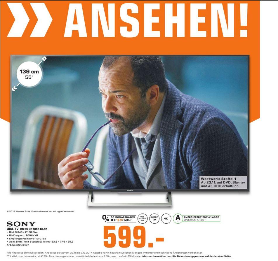 Sony KD-55XE7005 [LOKAL] Saturn Wiesbaden, 4k UHD Einsteigermodel