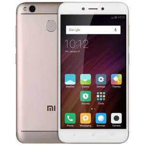 [Gearbest] Xiaomi Redmi 4X Dual-SIM UK Version mit Band 20 FARBE GOLD (5'' HD IPS, Snapdragon 435 Octacore, 3GB RAM, 32GB eMMC, 13MP + 5MP Kamera, inkl. Band 20, 4100mAh mit Quick Charge, Android 6) für 102,03€