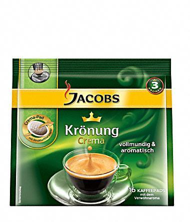 160 Jacobs Krönung Crema klassisch Pads für 10,29€
