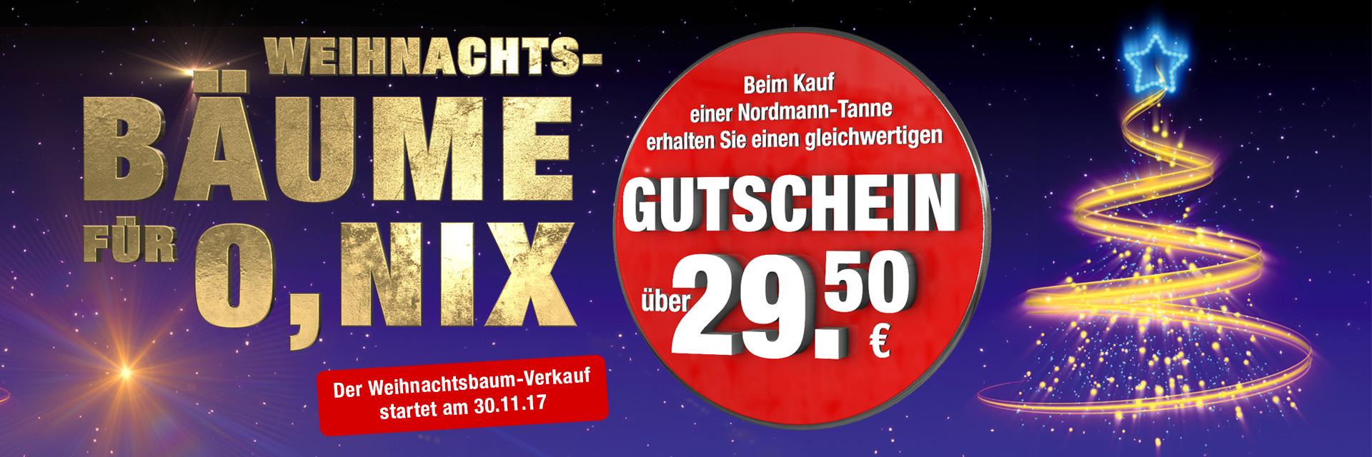 [LOKAL Osterholz-Scharmbeck]: Möbelhaus Meyerhoff Nordmanntanne f. 29,50 EUR, Volle Rückvergütung in Form vom Gutschein