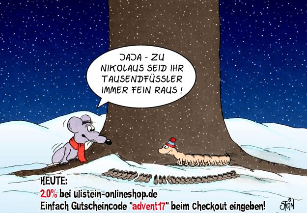 UliStein Shop 20% am Nikolaus