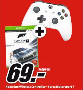 Ein paar Angebote wie zb...Forza Motorsport 7 - XBoxOne + Microsoft Xbox One S Wireless Controller, weiß für 69€ etc..**Update..Verlängerte 3für2 Aktion! z.B. Battlefield Revolution/ GTA 5/ PES 18 (alles PS4/XB1) für zusammen 58€ [Media Markt]