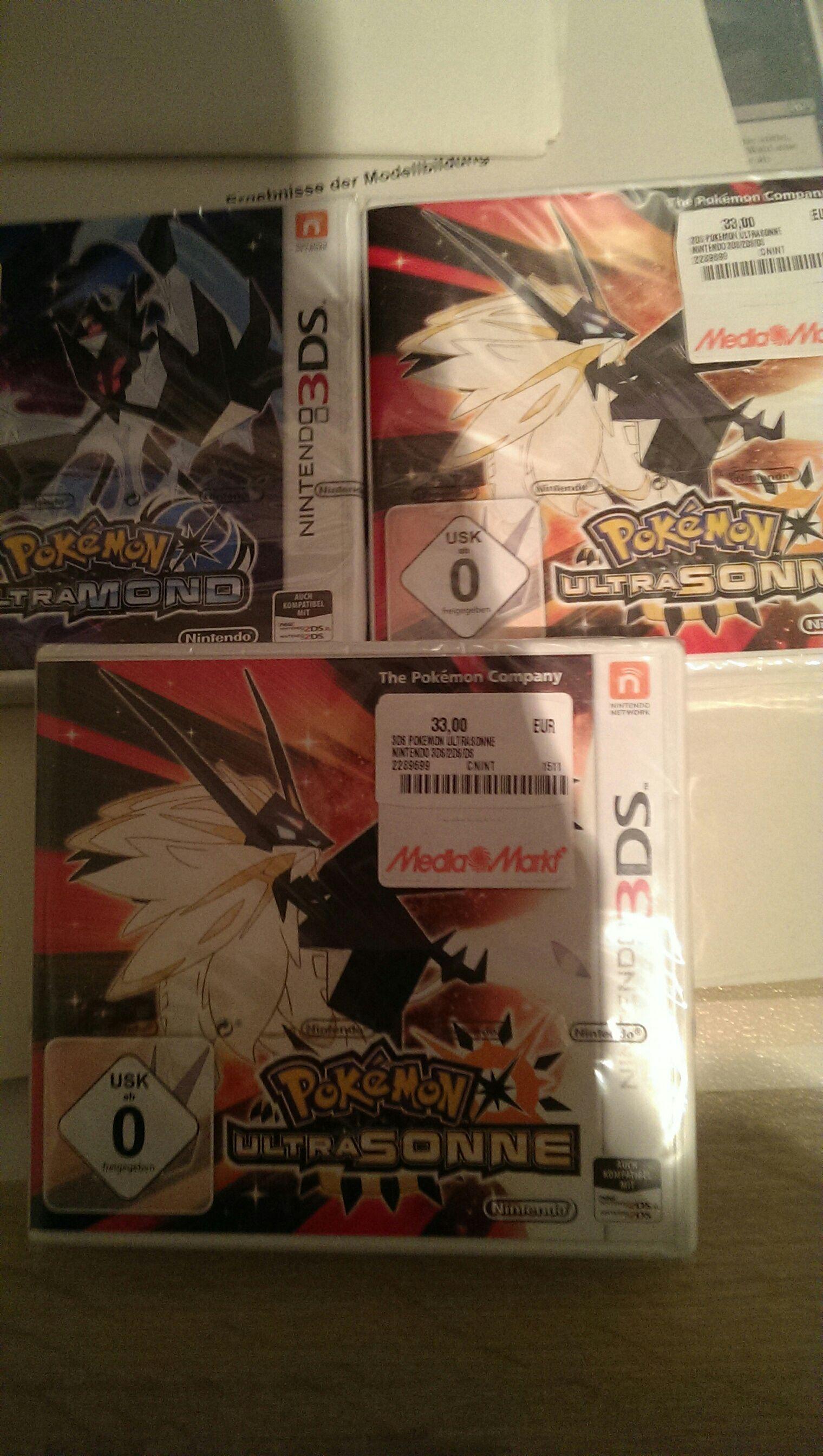 [3 für 2] Pokemon Ultrasonne Ultramond für 22€ Mediamarkt Freimann