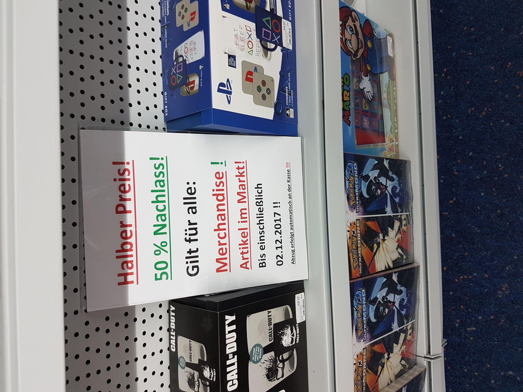 Lokal München Saturn Riem Arkaden 50% auf alle Merchandise und 10% auf alle Nintendo Artikel bis 02.12.