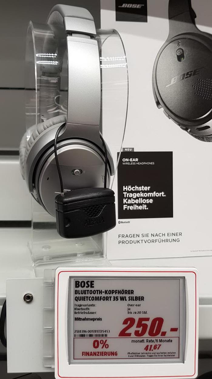 Bose ® QuietComfort 35 I Silber (MediaMarkt Weinheim) LOKAL