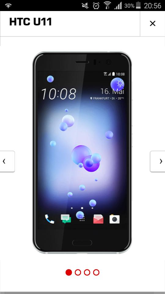 HTC U11 im MD Vodafone Tarif für 49€ + 14,99€/mtl. + 39,99€ Anschlussgebühr mit 50 Freiminuten+50 FreiSMS + 2GB Internet-Flat(ohne LTE)