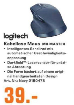 [Regional Saturn Hennef,Troisdorf,Siegburg,St.Augustin// NUR am 03.12] Logitech MX Master Wireless Mouse USB, Navy Blau für 39,-€