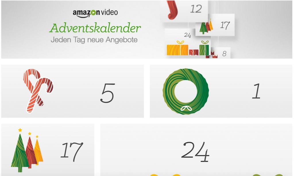 Der Amazon Video-Adventskalender (täglich einen HD-Kauffilm für 3,98€)