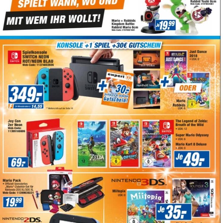 [Lokal] Nintendo Switch + 1 Spiel + 30€ Gutschein