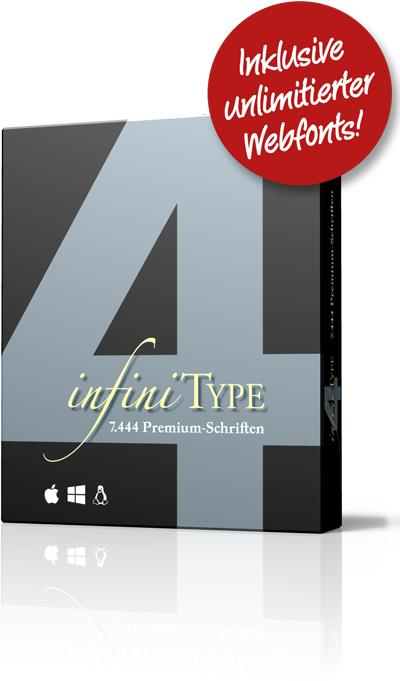 infiniType 4 - 7.444 Schriften und Webfonts für PC und Mac mit 72-73% Rabatt