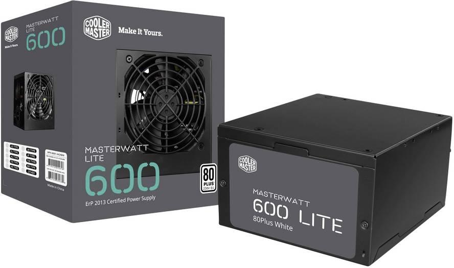 Cooler Master PC Netzteil MasterWatt Lite 600 W ATX 80PLUS
