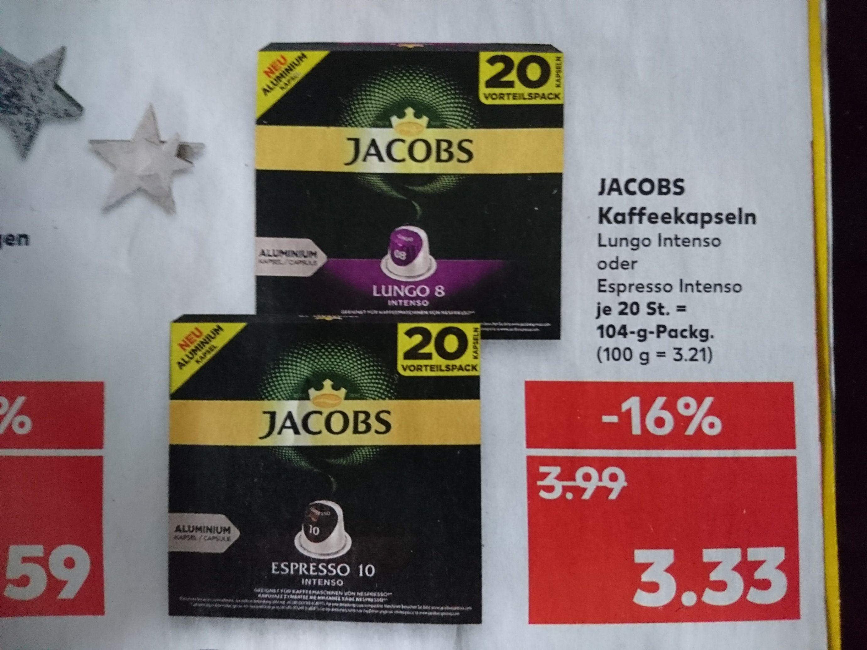 Kaufland: Jacobs Kaffeekapseln 20 St. Espresso+Lungo
