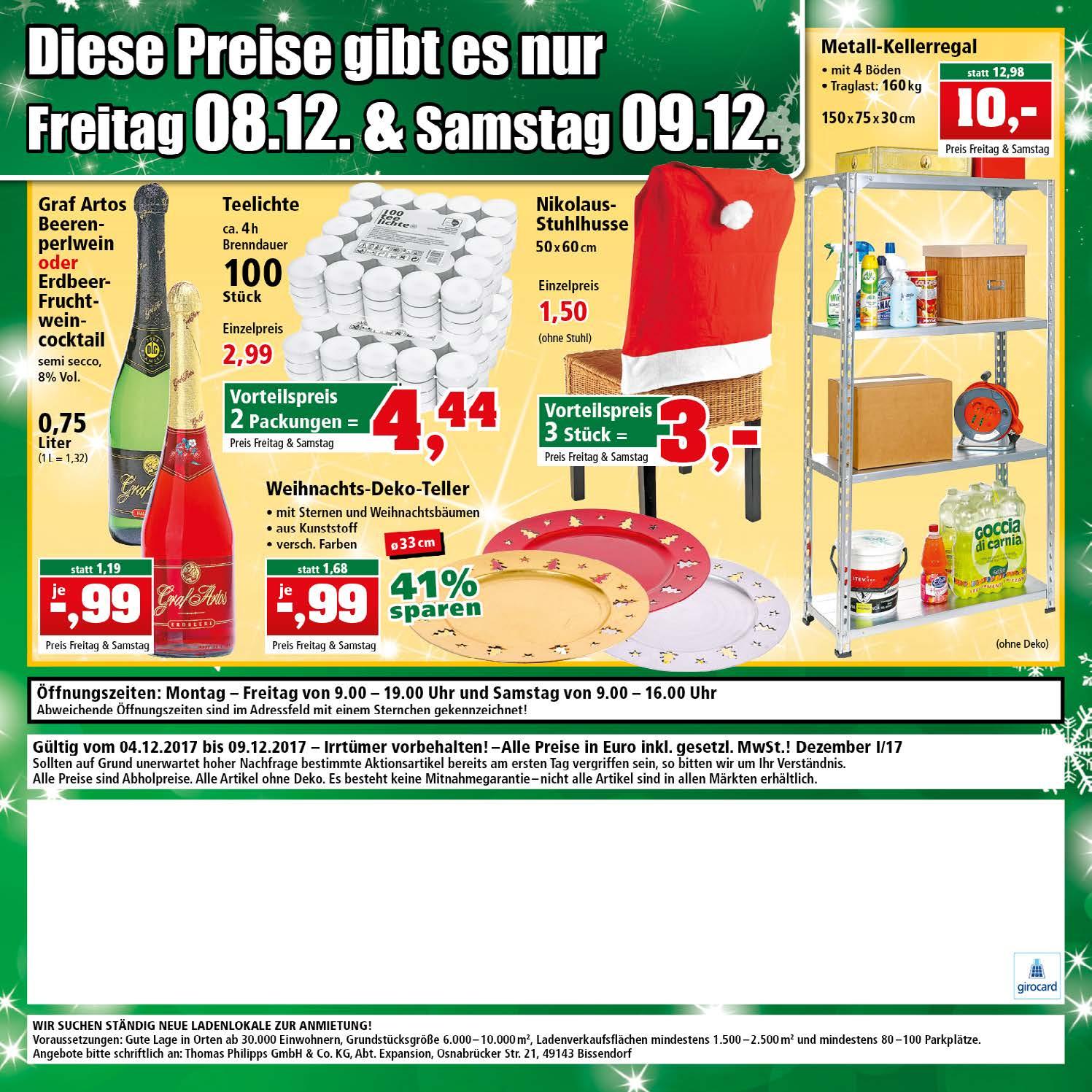 [Offline] Metall-Kellerregal für 10 € bei Thomas Philipps nur am Fr. 08.12. und Sa. 09.12.