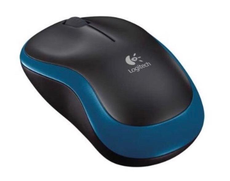 Logitech M185 Maus schnurlos blau, schwarz oder rot [Amazon Prime]