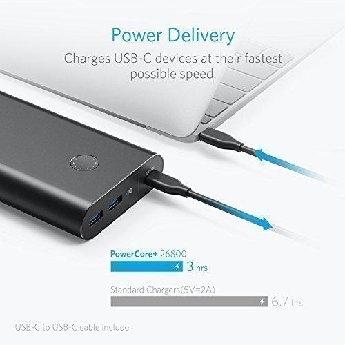 [Amazon] Anker PowerCore+ 26800mAh Powerbank mit Power Delivery, USB-C