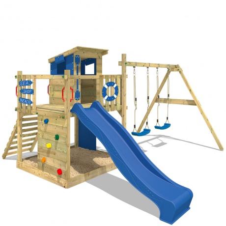 [Rakuten] Spielturm Wickey Smart Camp mit Rutsche, Kletterwand und Schaukeln