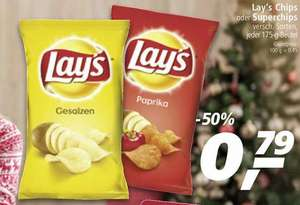 Ab Montag bei real,-: Lay's Chips / Superchips für nur 0,79 Euro pro Packung (175gr.).