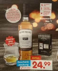Bowmore No. 1 Islay Single Malt Scotch Whisky Geschenkverpackung incl. Nosingglas ab 04.12.