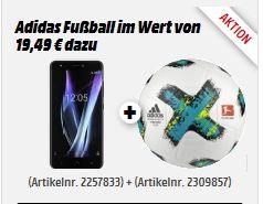 """[Mediamarkt] BQ Aquaris X Pro 64GB Schwarz [13,2cm (5,2"""") FHD Display, Android 7.1.1, 2,2 GHz Octa-Core, 12MP Kamera, Fingerabdrucksensor] in 2 Farben + Adidas Fußball für je 269,-€"""