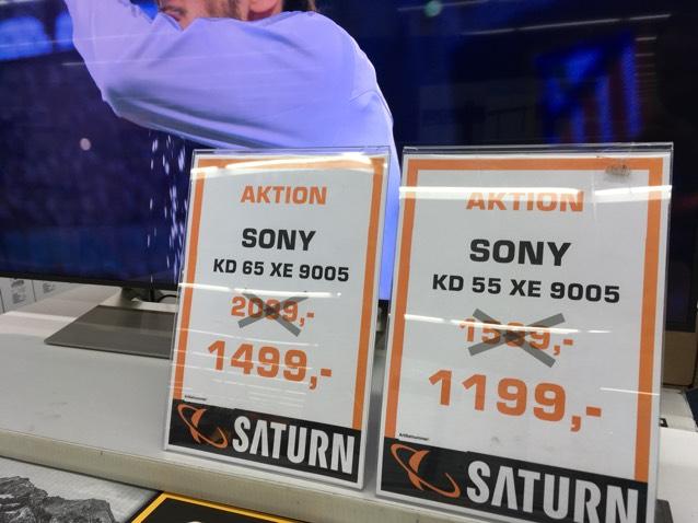 Sony KD 55 XE 9005 und Sony KD 65 XE 9005