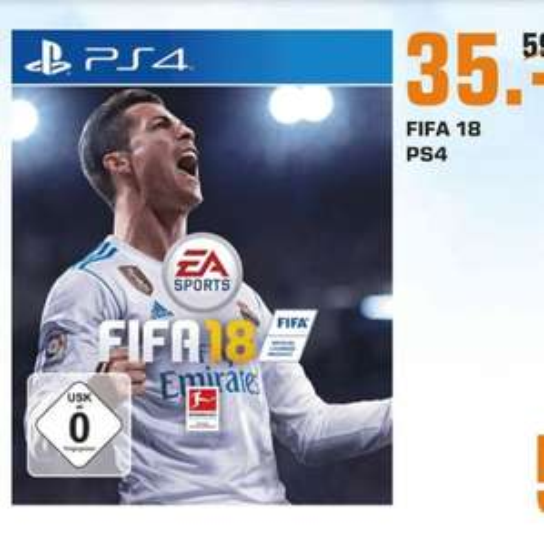 [Regional Saturn Dortmund City / Sonntagsdeal] FIFA 18 ( Playstation 4) für 35,-€