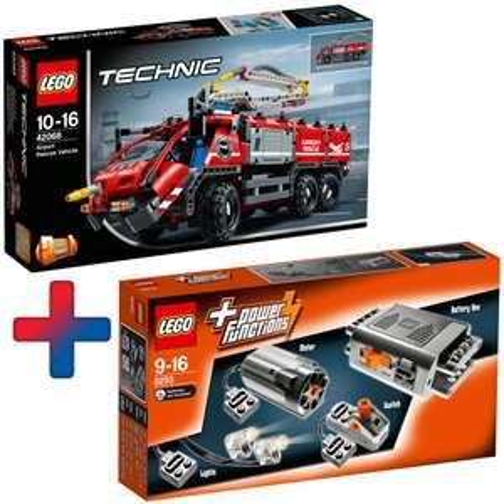 Lego Technic 42068 Flughafen-Löschfahrzeug + Lego 8293 Technic Power Functions Tuning-Set [real]