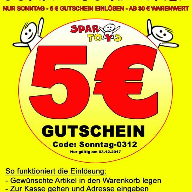 5€ Gutschein bei SparToys