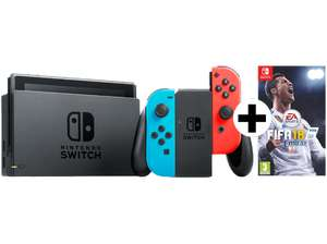 NINTENDO Switch Neonrot/blau + FIFA 18 für 333€ [mediamarkt.at]