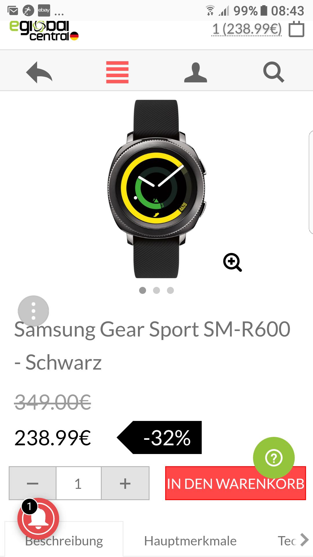 Samsung Gear Sport SM-R600 - Schwarz