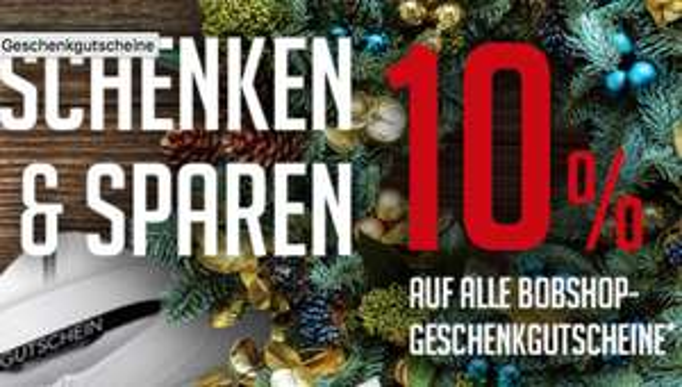 Bobshop.de: 10% Rabatt auf alle Geschenkgutscheine