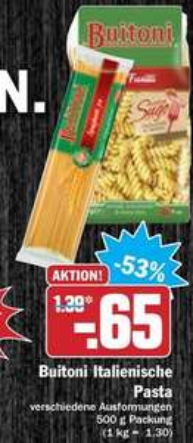 [HIT BUNDESWEIT 04.12 - 09.12.2017]  3x Buitoni 500g Nudel-Packungen für 0,95€ (Angebot+Coupon)