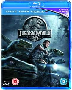Jurassic World (Blu-ray 3D + Blu-ray + UV Copy) für 5,29€