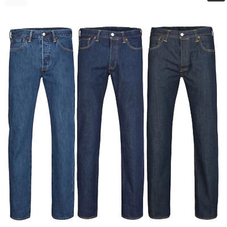 Levis 501 Original Fit Onewash & Stonewash Hose Herren Jeans (eBay - Outlet46)