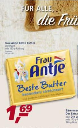 [REAL] Frau Antje Beste Butter 250g für 1,69€ (04.12.-09.12.2017)