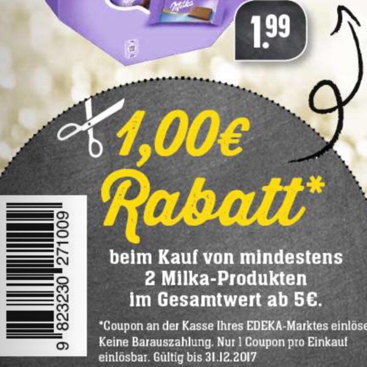 EDEKA Südwest / Milka 1€Rabatt Coupon im Prospekt