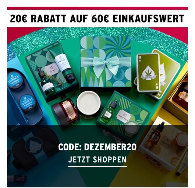 [The Body Shop] 20 Euro Rabatt ab 60 Euro Einkaufswert