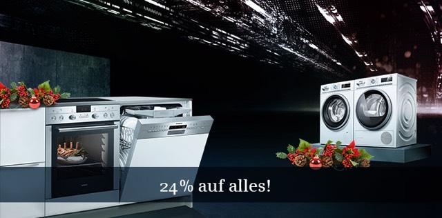 24% Rabatt auf das gesamte Sortiment im Siemens Online-Shop