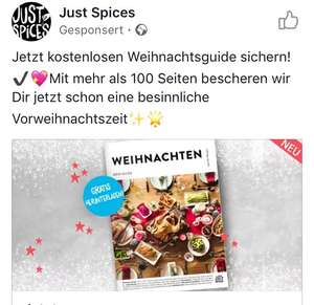 [Just Spices] Gratis Download Weihnachtsguide mit vielen Rezepten
