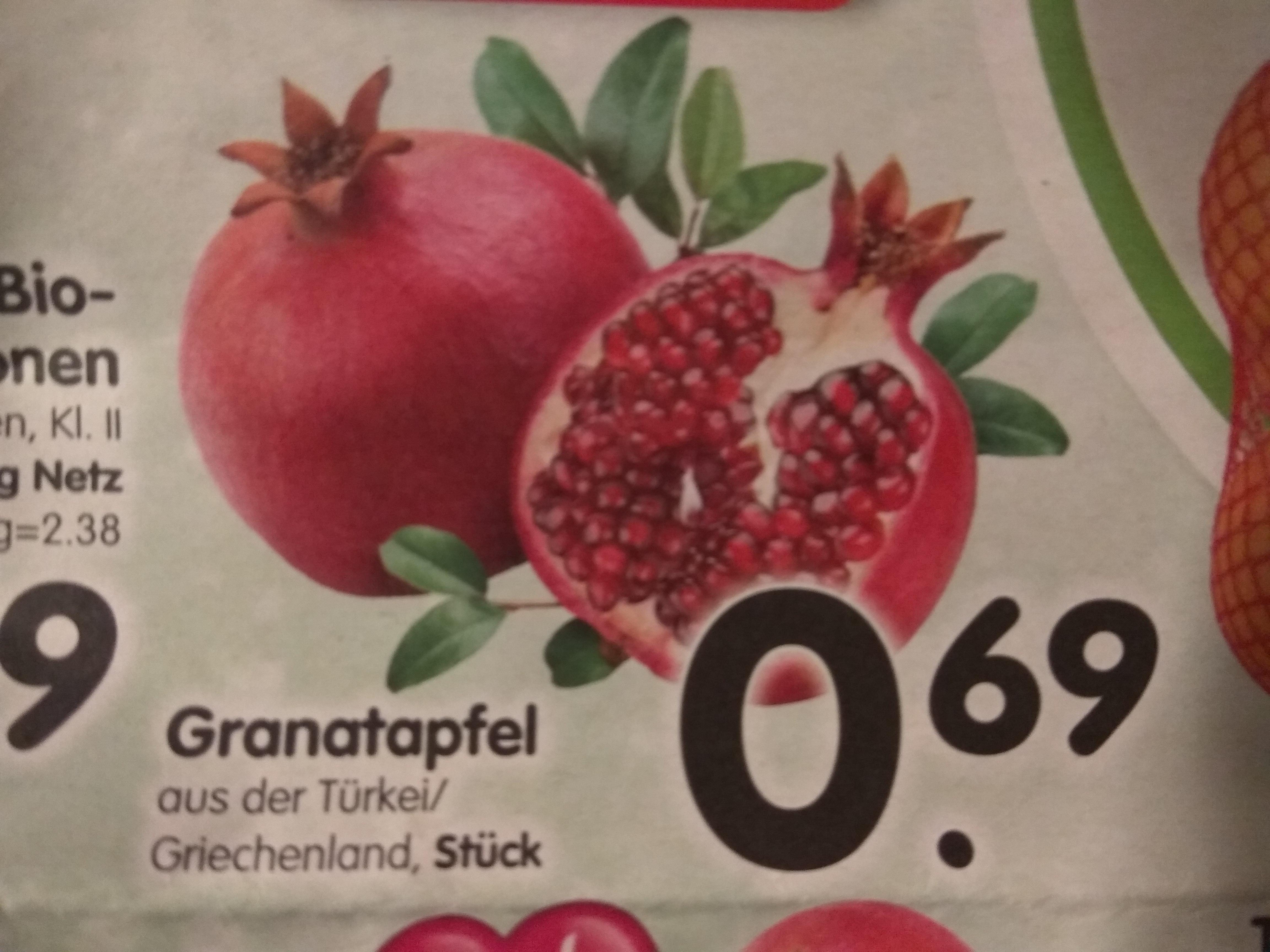 Granatapfel Edeka Südbayern evtl Bundesweit